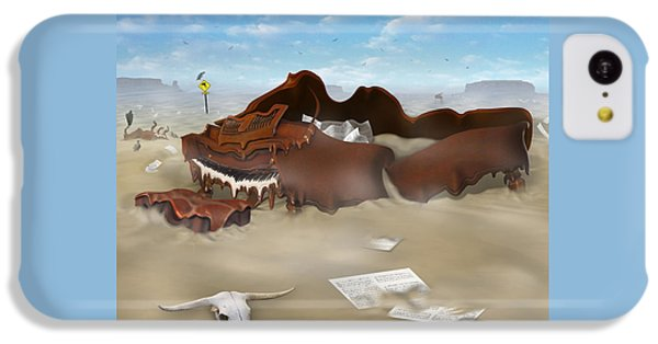 A Slow Death In Piano Valley Sq IPhone 5c Case by Mike McGlothlen