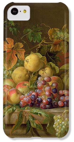 Still Life iPhone 5c Case - A Still Life Of Melons Grapes And Peaches On A Ledge by Jakob Bogdani