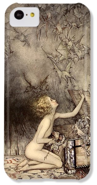 A Sudden Swarm Of Winged Creatures Brushed Past Her IPhone 5c Case by Arthur Rackham