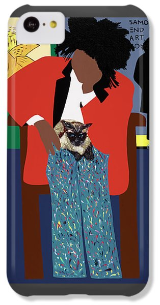 iPhone 5c Case - A Tribute To Jean-michel Basquiat by Synthia SAINT JAMES