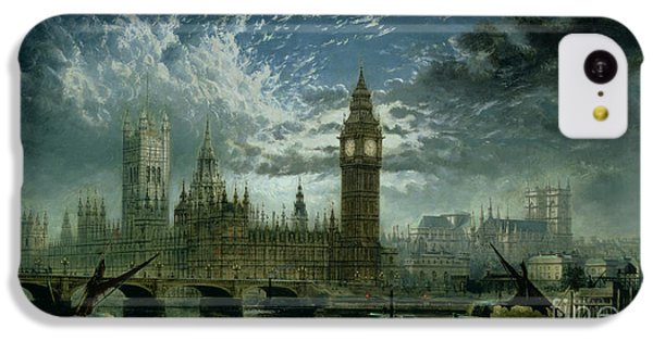 A View Of Westminster Abbey And The Houses Of Parliament IPhone 5c Case by John MacVicar Anderson