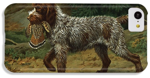 Griffon iPhone 5c Case - A Wire-haired Pointing Griffon Holds by Walter A. Weber