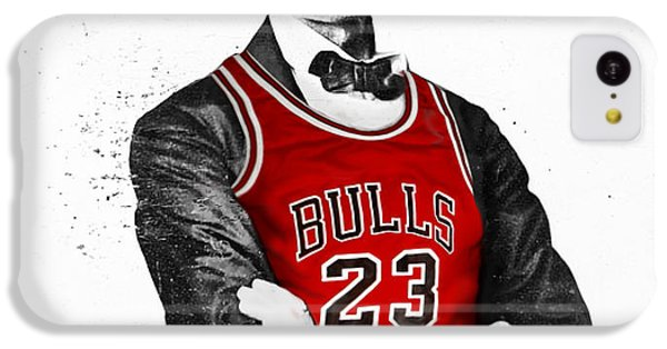 Chicago iPhone 5c Case - Abe Lincoln In A Michael Jordan Chicago Bulls Jersey by Rolyo