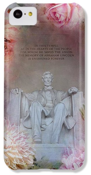 Lincoln Memorial iPhone 5c Case - Abraham Lincoln Memorial At Spring by Marianna Mills
