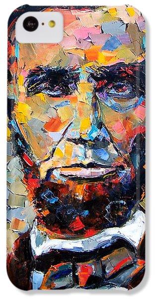 Abraham Lincoln iPhone 5c Case - Abraham Lincoln Portrait by Debra Hurd