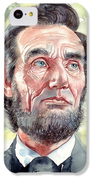 Abraham Lincoln iPhone 5c Case - Abraham Lincoln Portrait by Suzann's Art