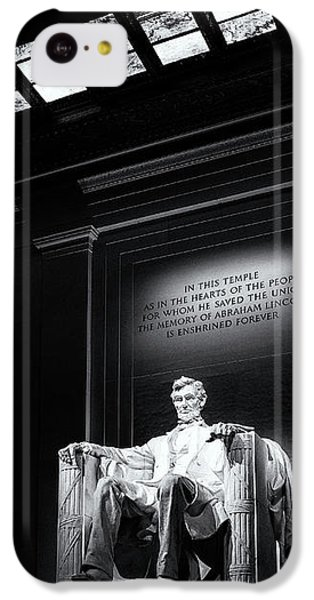 Abraham Lincoln Seated IPhone 5c Case by Andrew Soundarajan