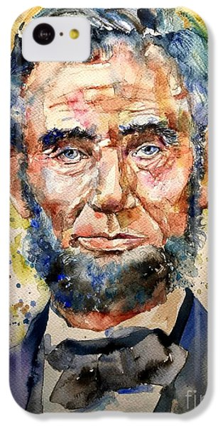 Abraham Lincoln iPhone 5c Case - Abraham Lincoln Watercolor by Suzann's Art