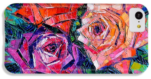 Abstract Bouquet Of Roses IPhone 5c Case
