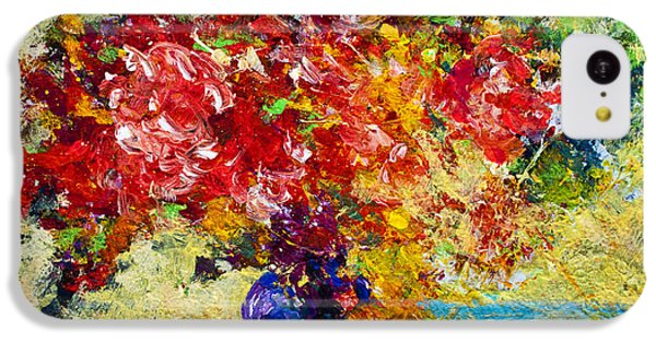 Abstract Floral 1 IPhone 5c Case by Marion Rose
