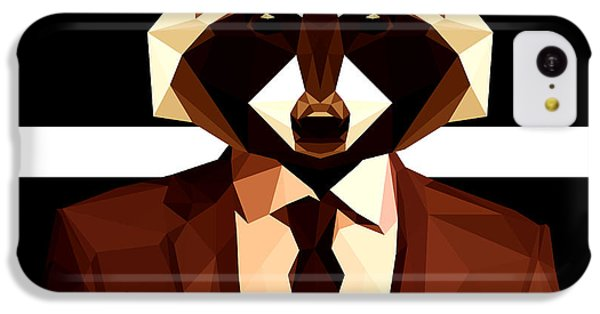Abstract Geometric Raccoon IPhone 5c Case