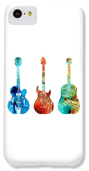 Music iPhone 5c Case - Abstract Guitars By Sharon Cummings by Sharon Cummings