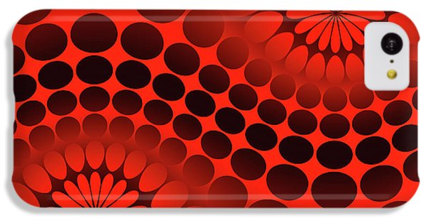 Abstract Red And Black Ornament IPhone 5c Case