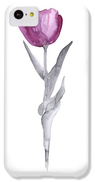 Abstract Tulip Flower Watercolor Painting IPhone 5c Case by Joanna Szmerdt