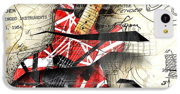 Guitar iPhone 5c Case - Abstracta 35 Eddie's Guitar by Gary Bodnar