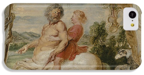 Achilles Educated By The Centaur Chiron IPhone 5c Case by Peter Paul Rubens