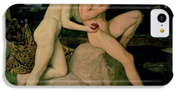 Python iPhone 5c Case - Adam And Eve  by William Strang