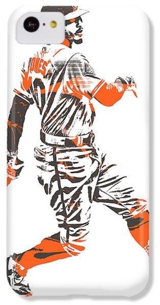 Oriole iPhone 5c Case - Adam Jones Baltimore Orioles Pixel Art 11 by Joe Hamilton