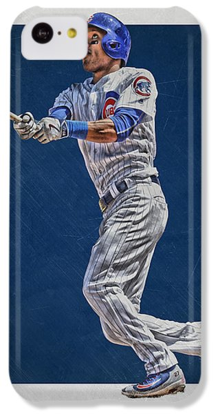 Addison Russell Chicago Cubs Art IPhone 5c Case by Joe Hamilton