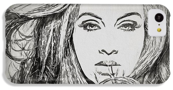 Adele Charcoal Sketch IPhone 5c Case