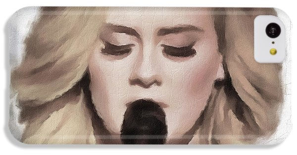 Adele Portrait Hello IPhone 5c Case by Yury Malkov