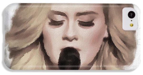 Adele Portrait Hello IPhone 5c Case by Yury Malkov