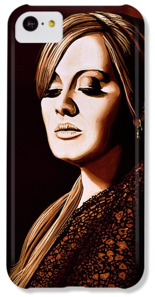 Rhythm And Blues iPhone 5c Case - Adele Skyfall Gold by Paul Meijering