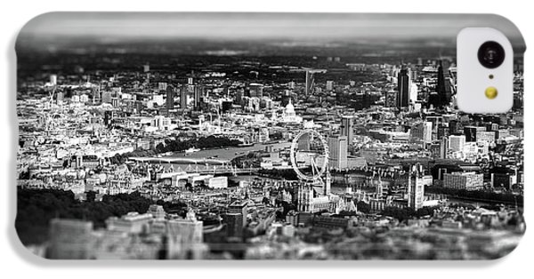London Eye iPhone 5c Case - Aerial View Of London 6 by Mark Rogan