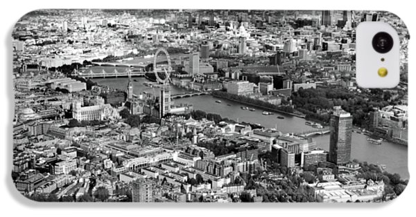 White iPhone 5c Case - Aerial View Of London by Mark Rogan