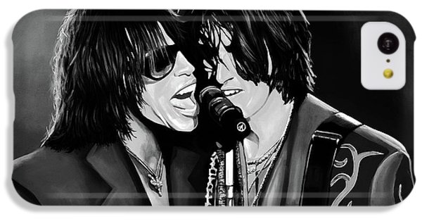 Aerosmith Toxic Twins Mixed Media IPhone 5c Case by Paul Meijering