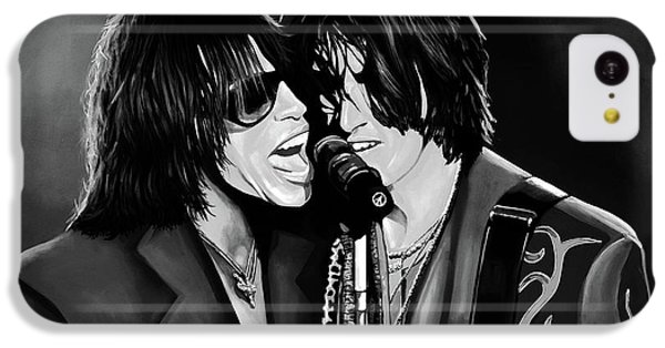 Steven Tyler iPhone 5c Case - Aerosmith Toxic Twins Mixed Media by Paul Meijering