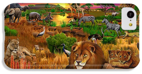 Cheetah iPhone 5c Case - African Evening by Gerald Newton