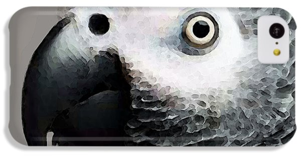 African Gray Parrot Art - Softy IPhone 5c Case