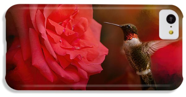 Humming Bird iPhone 5c Case - After The Big Rose by Jai Johnson