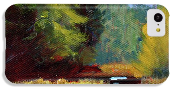 IPhone 5c Case featuring the painting Afternoon On The River by Nancy Merkle