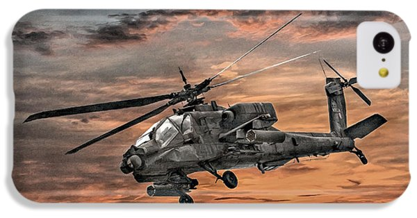 Helicopter iPhone 5c Case - Ah-64 Apache Attack Helicopter by Randy Steele