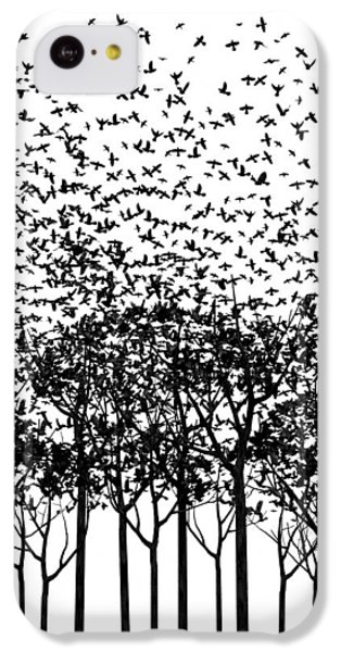 Starlings iPhone 5c Case - Aki Monochrome by Cynthia Decker