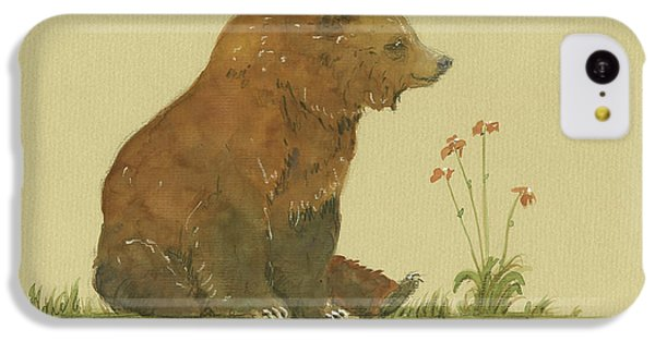 Alaskan Grizzly Bear IPhone 5c Case by Juan Bosco