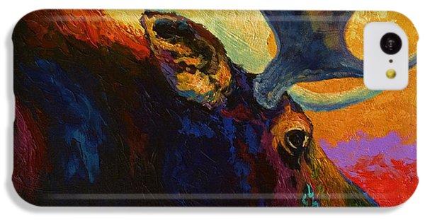 Bull iPhone 5c Case - Alaskan Spirit - Moose by Marion Rose