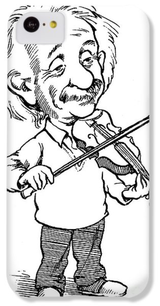 Violin iPhone 5c Case - Albert Einstein (1879-1955) by Granger