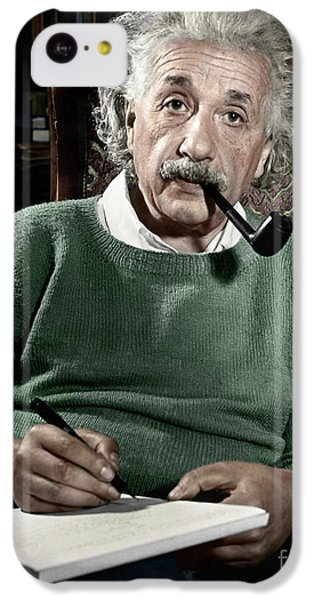 Portraits iPhone 5c Case - Albert Einstein by Granger