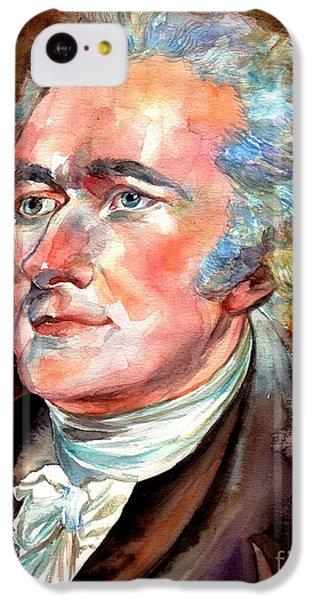 Thomas Jefferson iPhone 5c Case - Alexander Hamilton Watercolor by Suzann's Art