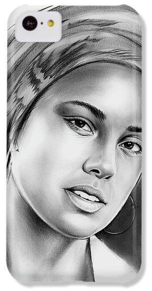 Rhythm And Blues iPhone 5c Case - Alicia Keys 2 by Greg Joens