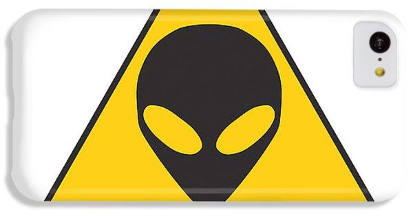 Alien Grey Graphic IPhone 5c Case by Pixel Chimp