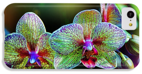 Orchid iPhone 5c Case - Alien Orchids by Bill Tiepelman