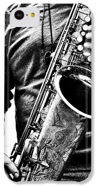 Saxophone iPhone 5c Case - All Blues Man With Jazz On The Side by Bob Orsillo