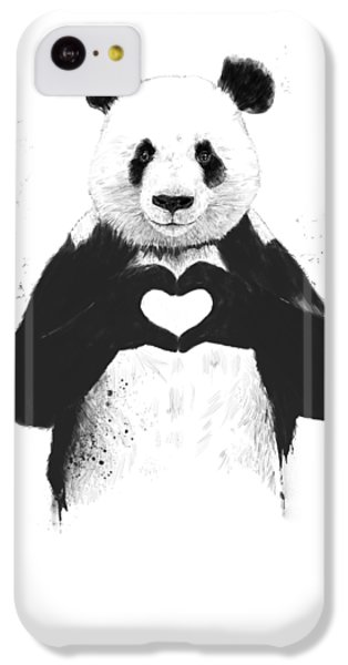 Animals iPhone 5c Case - All You Need Is Love by Balazs Solti