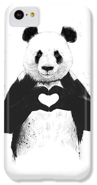 Valentines Day iPhone 5c Case - All You Need Is Love by Balazs Solti