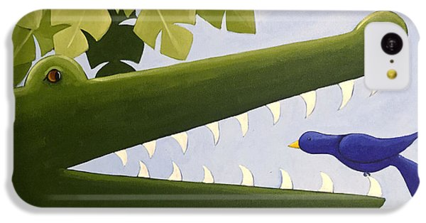 Crocodile iPhone 5c Case - Alligator Nursery Art by Christy Beckwith