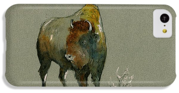 Mammals iPhone 5c Case - American Buffalo by Juan  Bosco